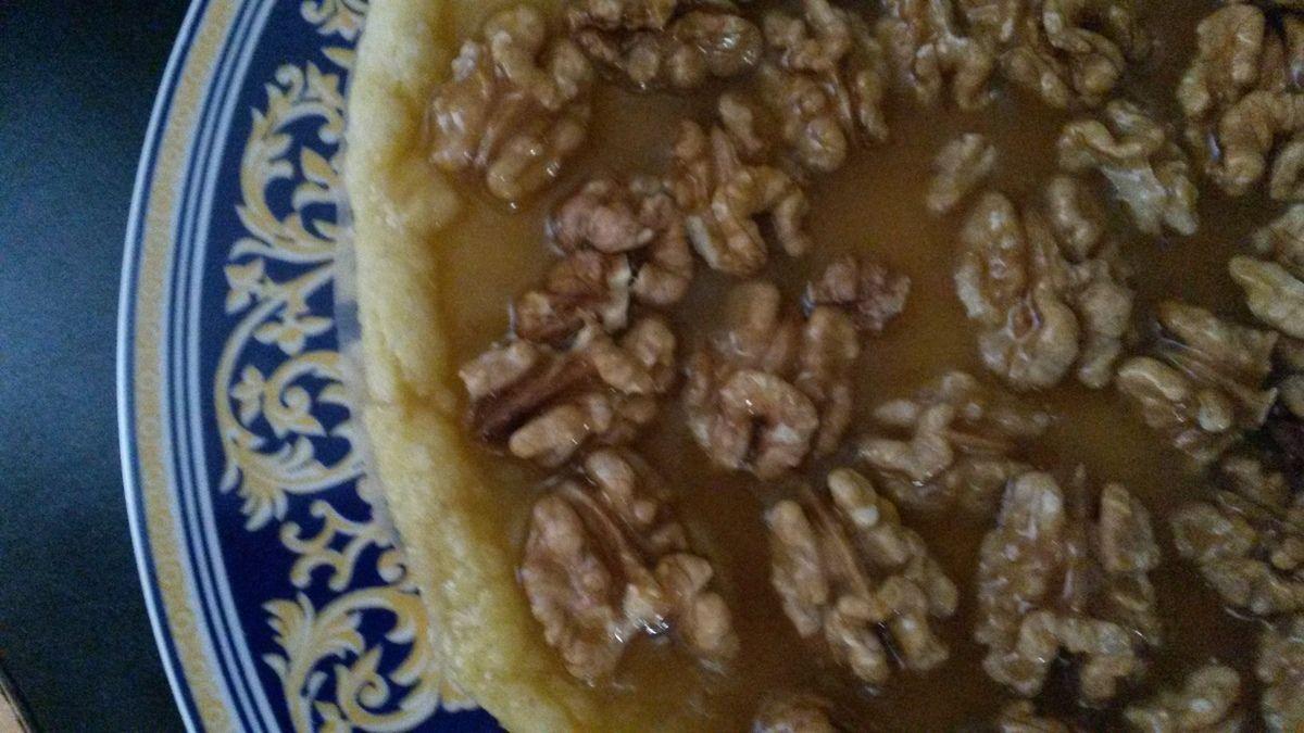 Tarte noix-caramel facile