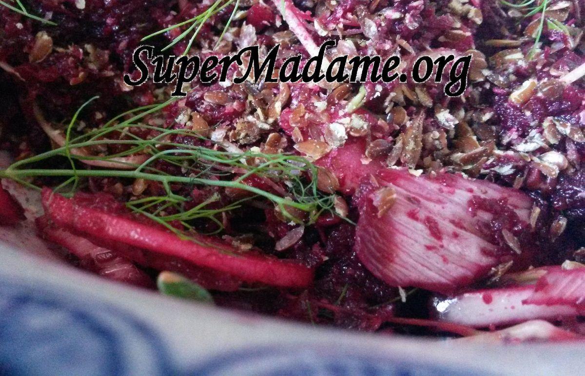 salade vegan betterave crue fenouil