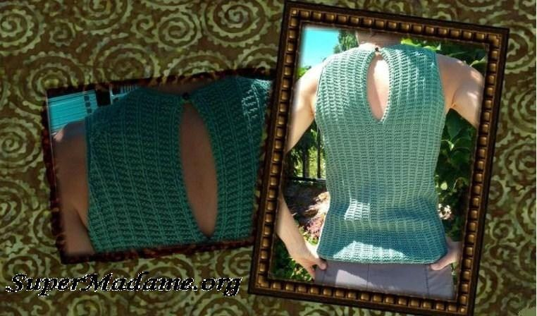 Modele tricot gratuit débardeur