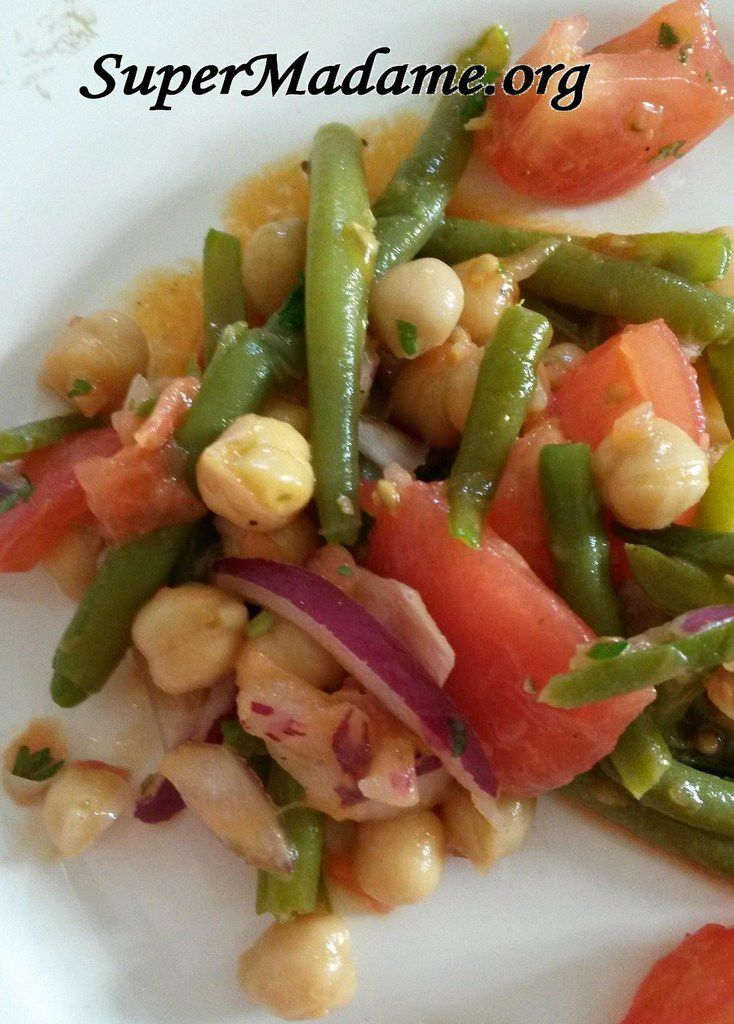 Salade pois chiches haricots verts