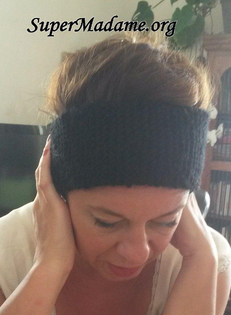 projet tricot facile avec 1 pelote : bandeau cache-oreilles