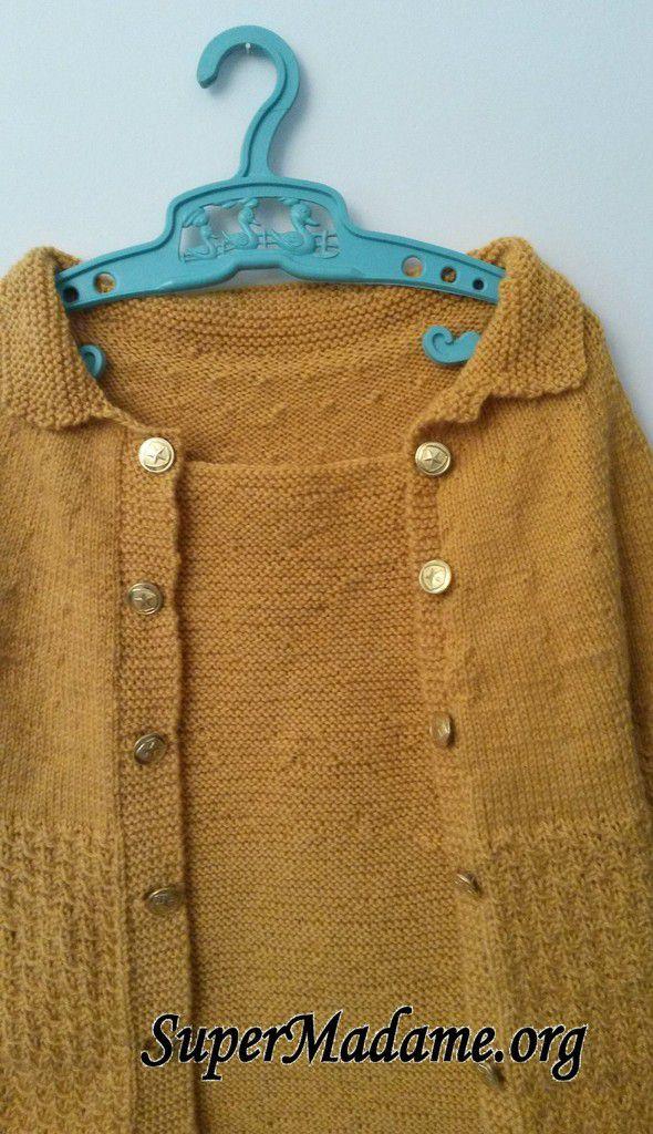 Modèle de tricot enfant gratuit gilet