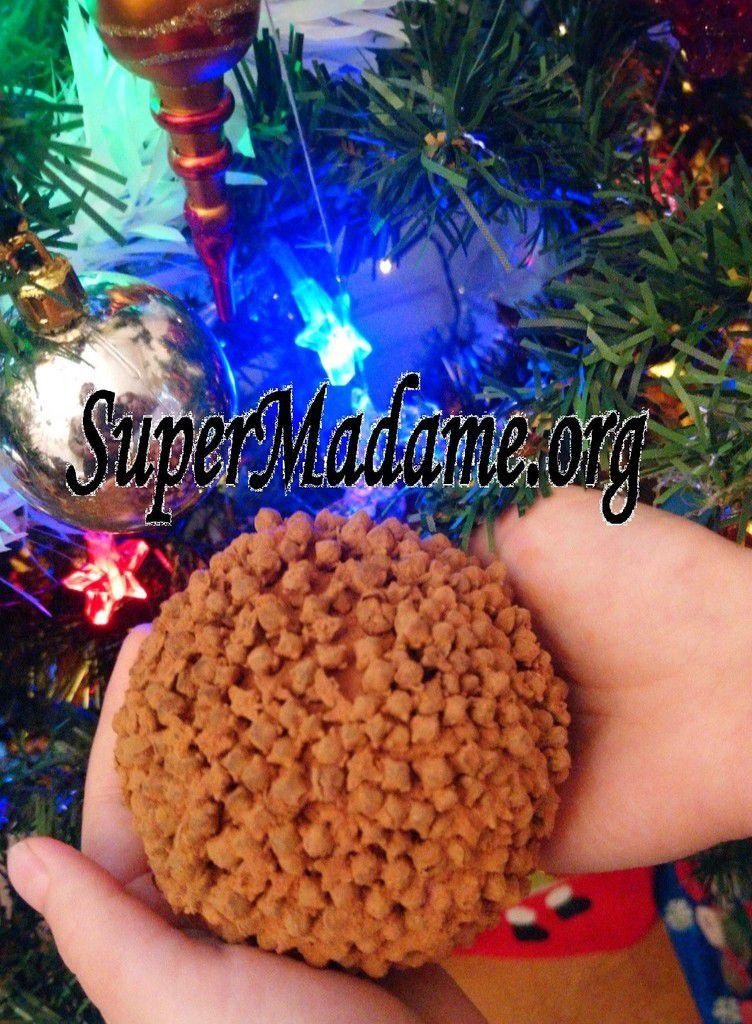 Activité enfant Noël bricolage pomme d'ambre