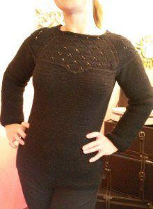 Modele tricot gratuit pull glamour