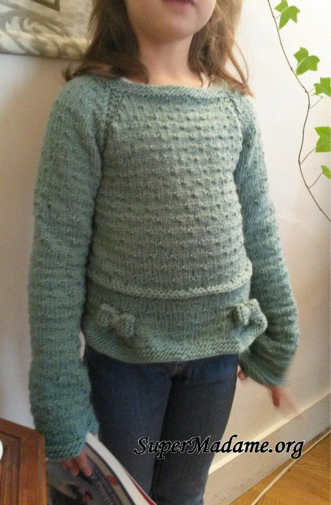 Modele tricot fille gratuit pull girly