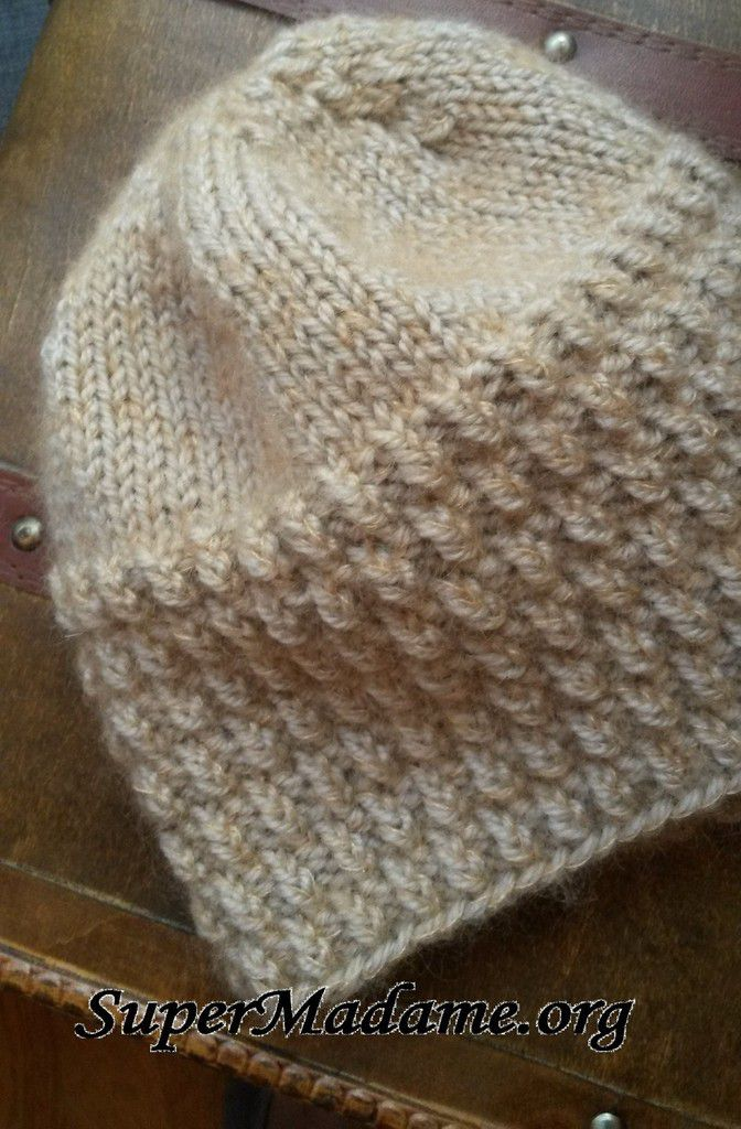 Tuto tricot bonnet unisexe point d'épi