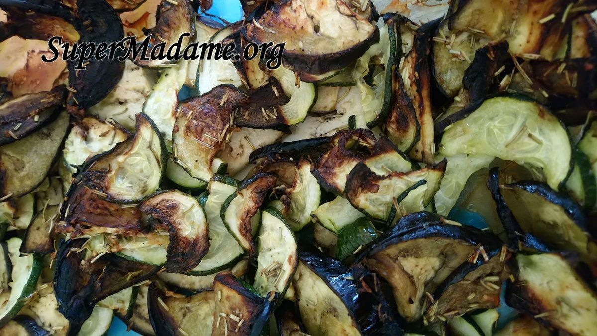 accompagnement courgettes aubergines rôties
