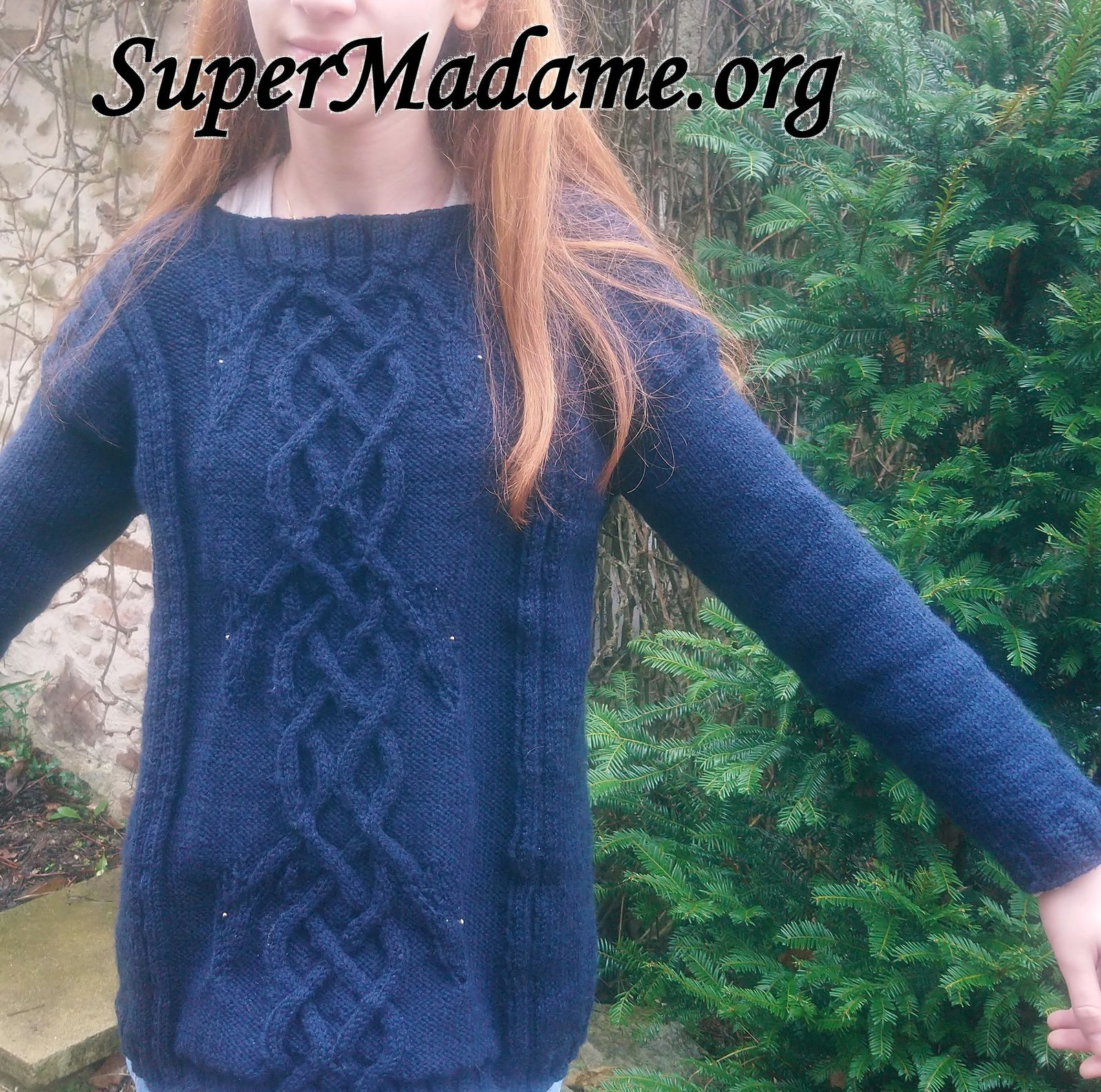 Tuto tricot pull celte torsades dragons