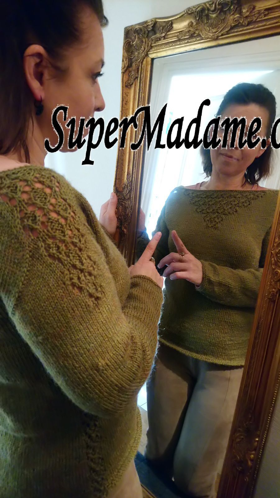 Tuto tricot pull femme glamour