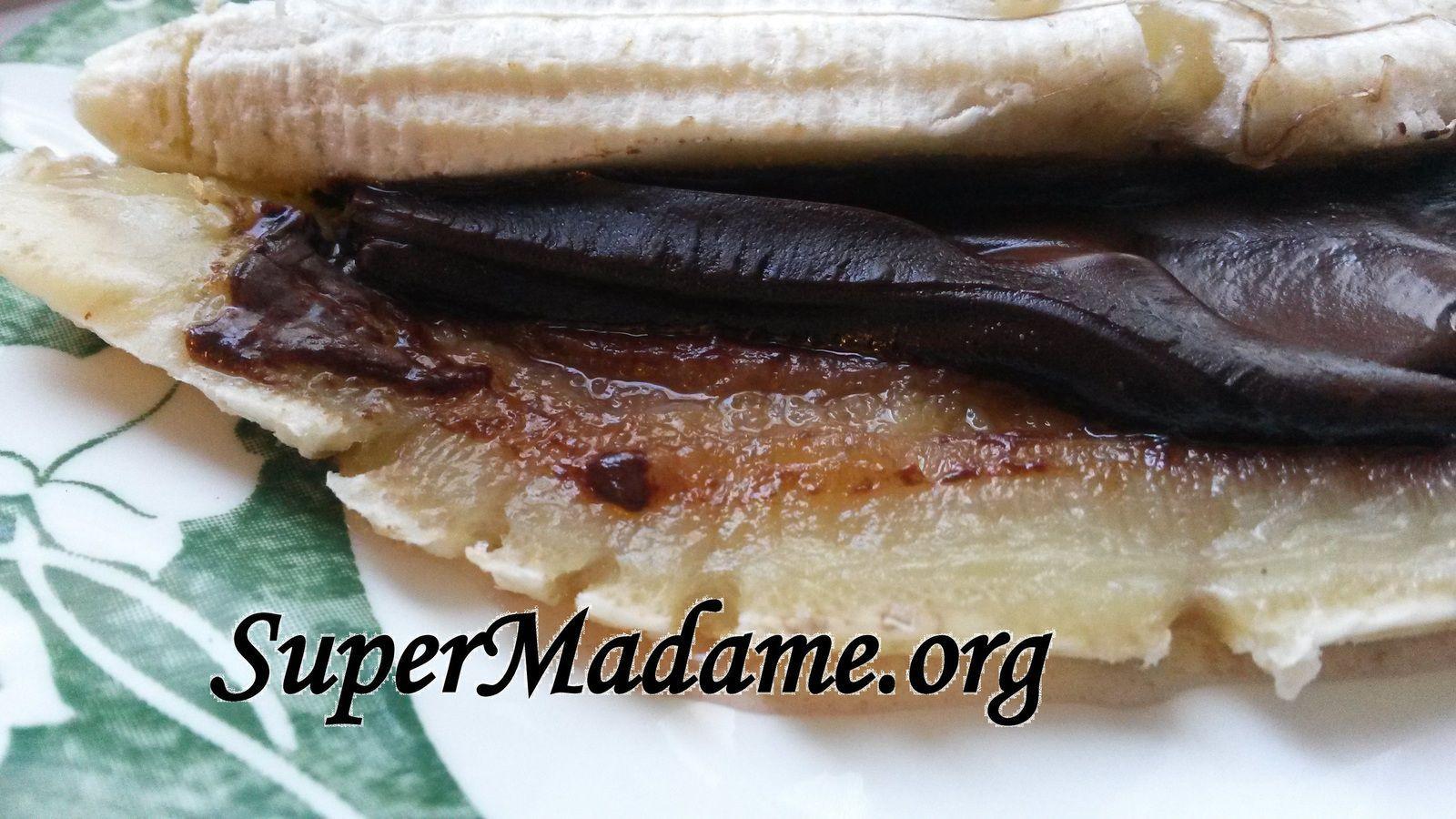 Idée dessert express 2 ingrédients banane chocolat