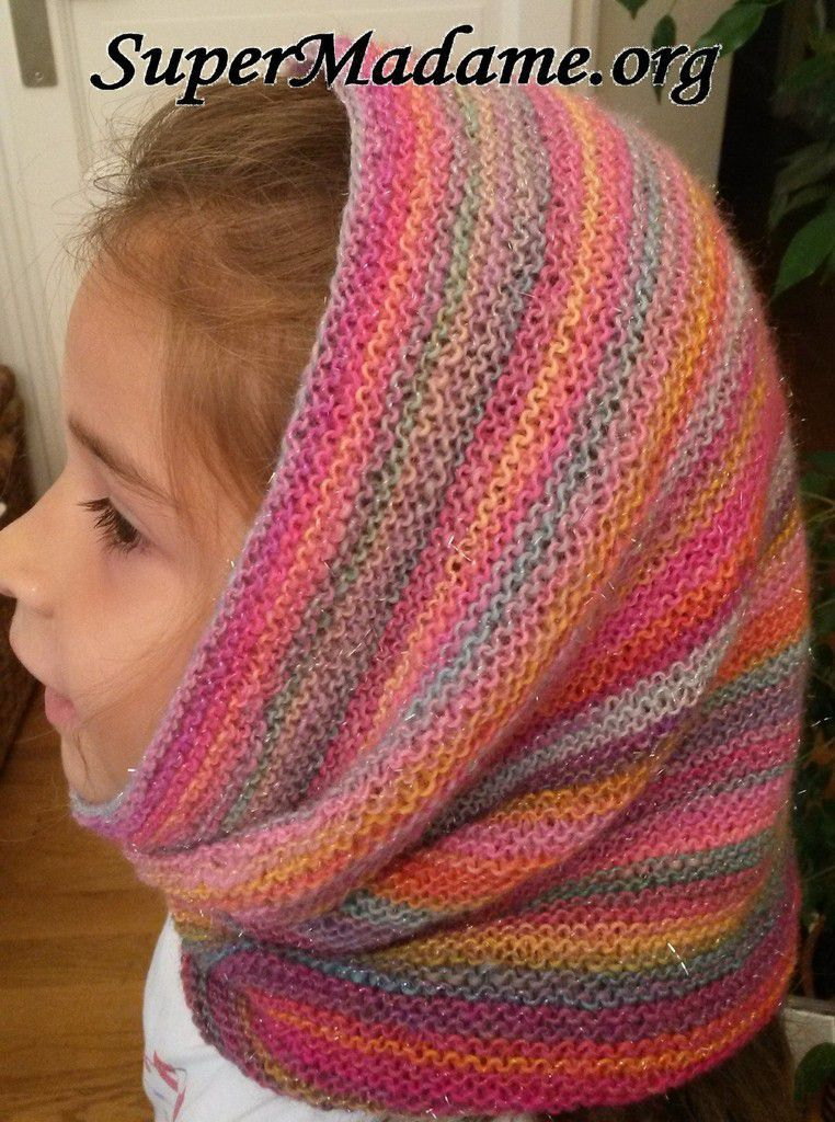 Tuto tricot snood cagoule