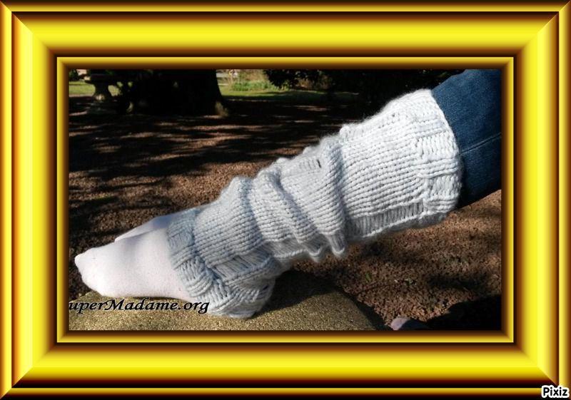 Tuto tricot guêtres filées trash