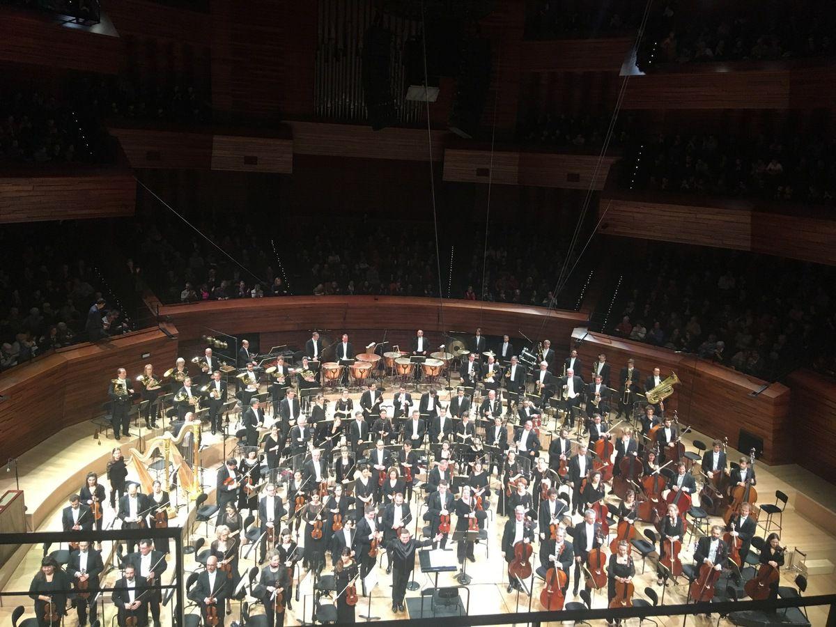 Orchestre Philharmonique de Radio France à l'issue du concert à la maison de la radio