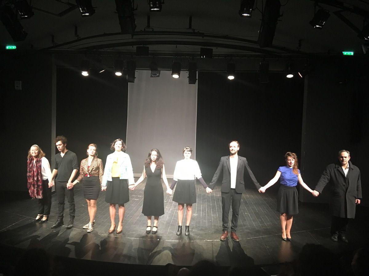 La Cie Jetz à l'issu de la représentation de l'épisode 5 le 18 février 2019 au Théâtre 13
