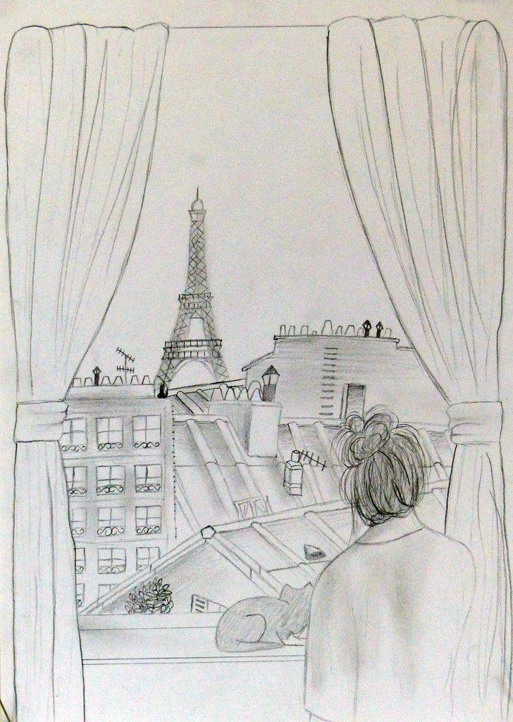 De ma fenêtre je vois la ville, par Clément