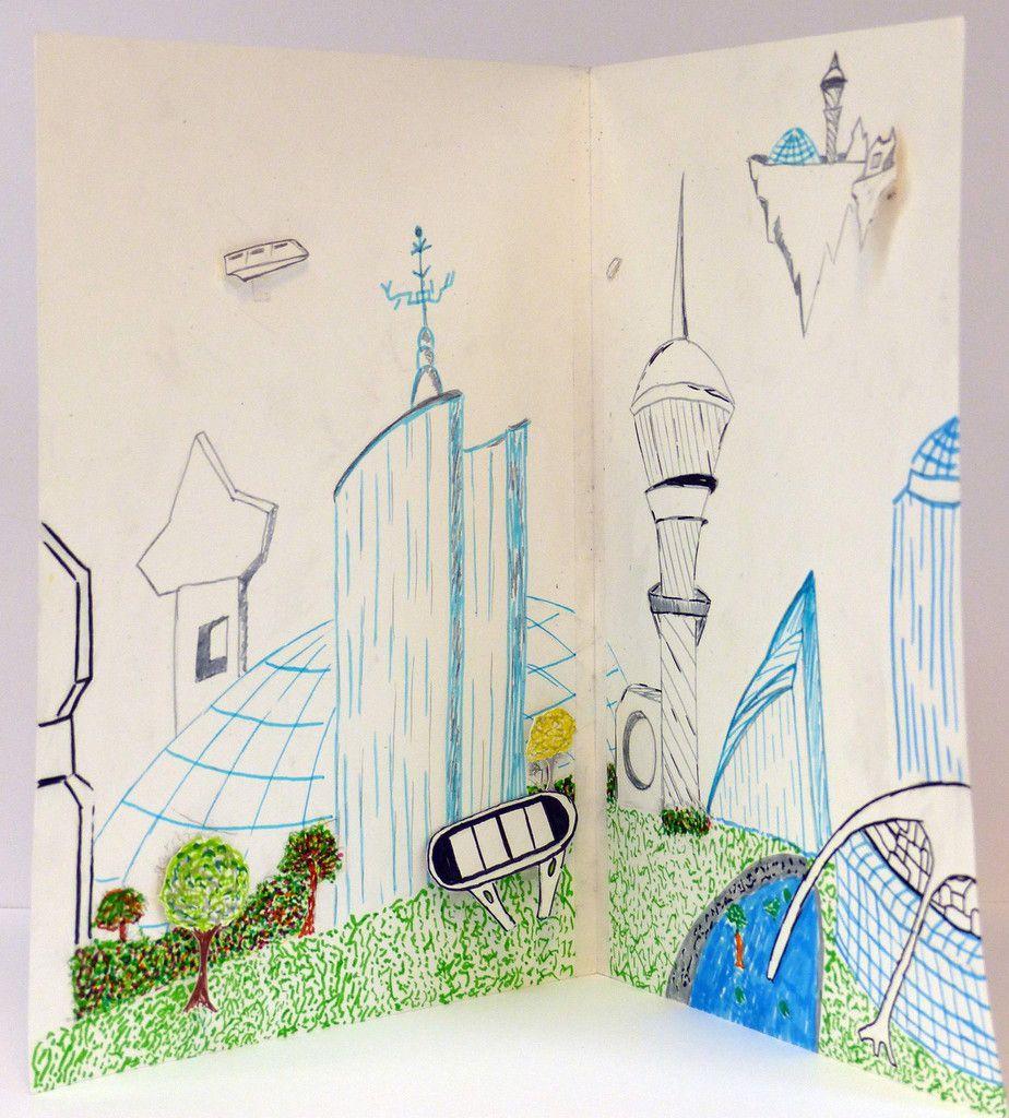 Ville futuriste, par Maxence