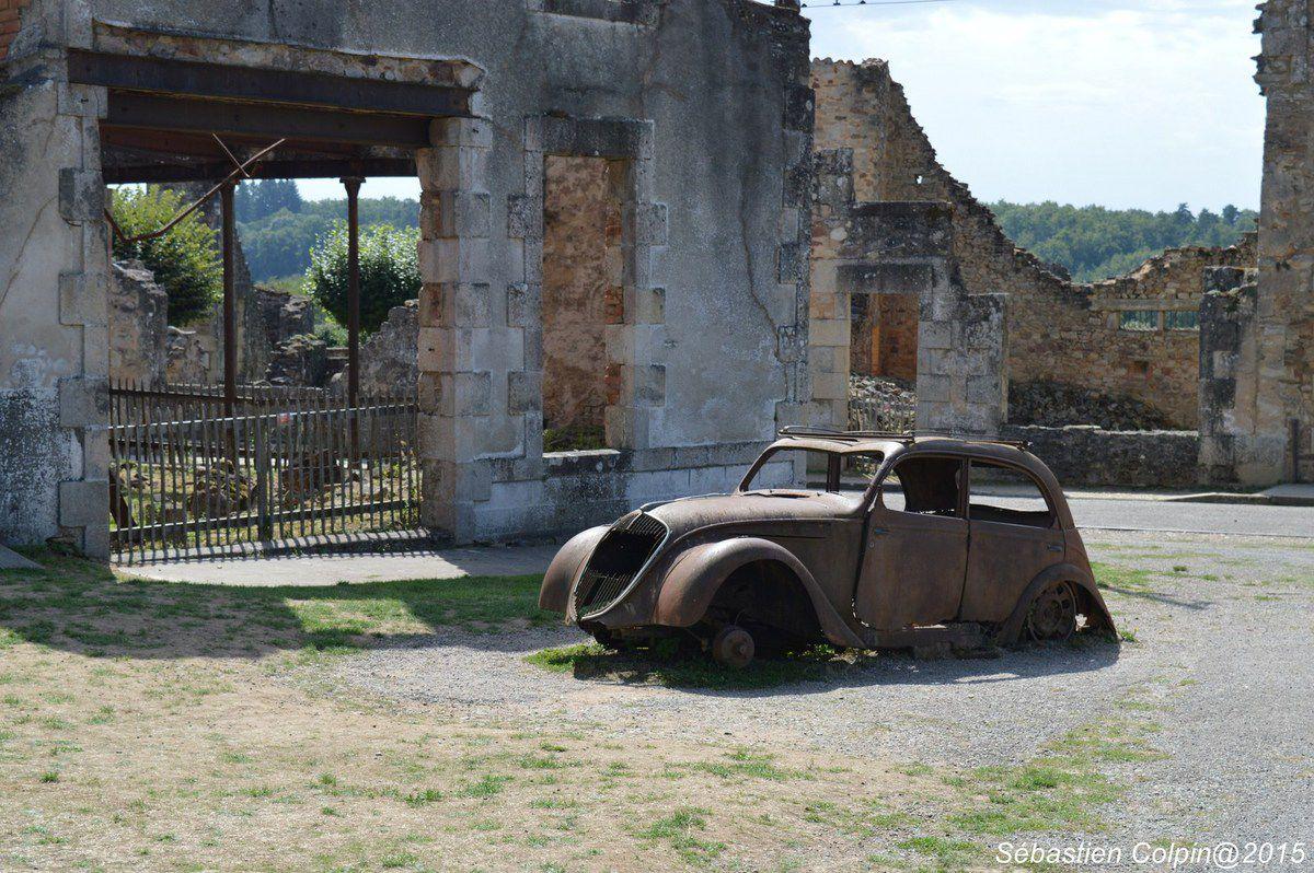 Vues d'Oradour sur Glane en Haute-Vienne, village détruit par la guerre.