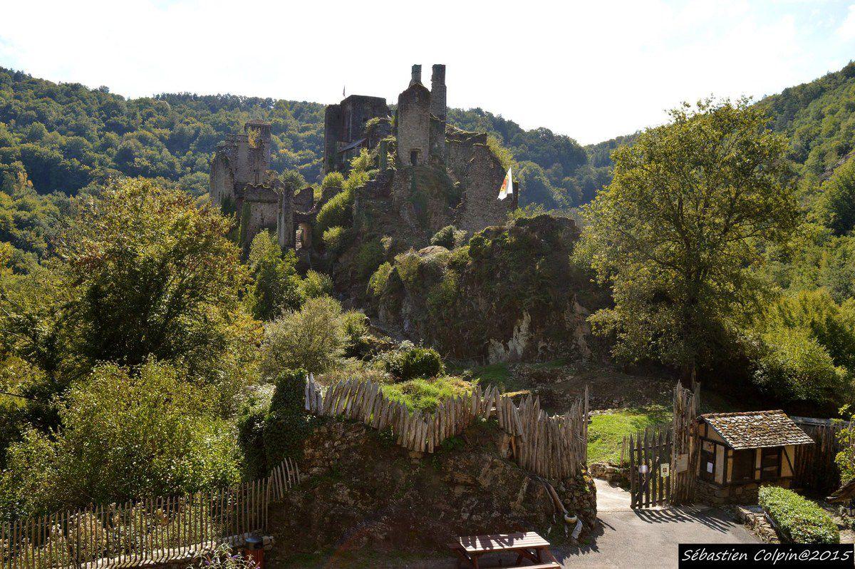 Les tours de Merle sont un ensemble de maisons fortes formant un castrum des XIIe et XVe siècles, situé à Saint-Geniez-ô-Merle, en Corrèze (France).  Les restes du château font l'objet d'un classement au titre des monuments historiques par arrêté du 30 juillet 1927.Du XIIe au XVe siècle, on voit les lignages seigneuriaux possesseurs du lieu édifier des tours, des hostels et des murs, constituant ainsi un castrum qui périclitera avec l'avènement de l'artillerie. En effet, le site pouvait facilement être bombardé des hauteurs avoisinantes. Au XIVe siècle, Merle comprend sept maisons fortes, deux chapelles et un village, possédés en indivision par sept seigneurs des familles de Merle, de Carbonnières, de Veyrac, et de Pestels. Pendant la guerre de Cent Ans, les Anglais prennent une tour et un château en 1371, puis doivent les restituer.  Les calvinistes prennent la place et y installent une garnison en 1574 ; ils en sont chassés deux ans plus tard par les co-seigneurs. Cependant le site est abandonné par ces derniers qui préfèrent vivre dans des lieux plus aimables et surtout plus accessibles. Il ne reste que des vestiges de ce castrum, réunion de maisons fortes qui datent du XIVe siècle ou avant. Existent encore : les piles ruinées de la maison de la garde du pont, l'emplacement du pont-levis de Veilhan, la tour de Noailles et la tour de Pestel. La maison de Fulcon de Merle est attestée en 1365 et il subsiste les emplacements de la maison dite de Veilhan et de la seconde chapelle Sainte-Anne bâtie en 1674, ainsi que les vestiges des tours donnés comme étant celles du commandeur de Saint-Léger, du prieur de Saint-Léger et de Saint-Bauzire.  Le site est ouvert toute l'année à la visite.