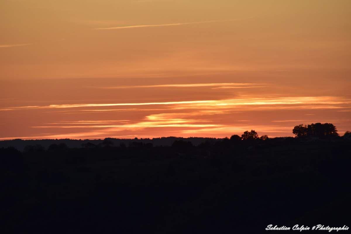 Coucher de soleil en Corrèze