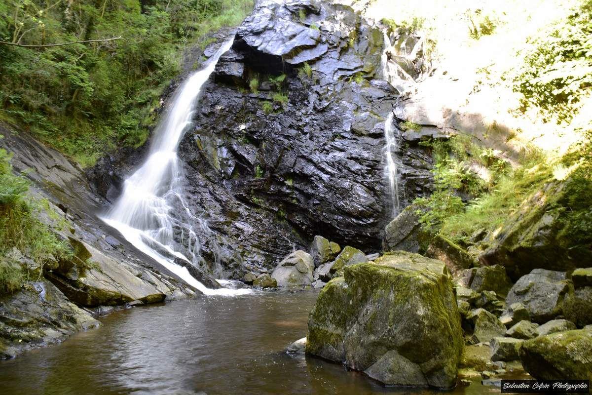 Cascade du Saut-Sali à Soursac en Corrèze