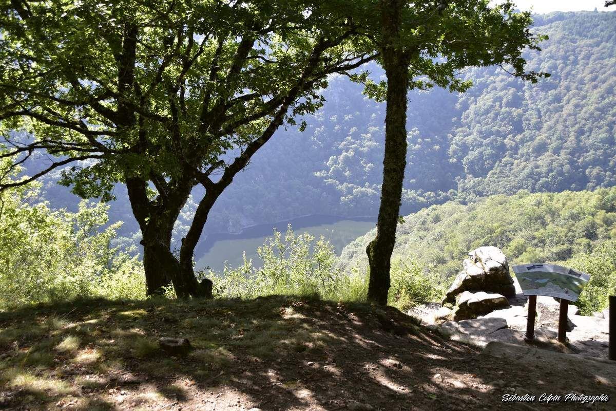 Belvédère du Roc du Busatier, point de vue magnifique sur la Dordogne en Corrèze