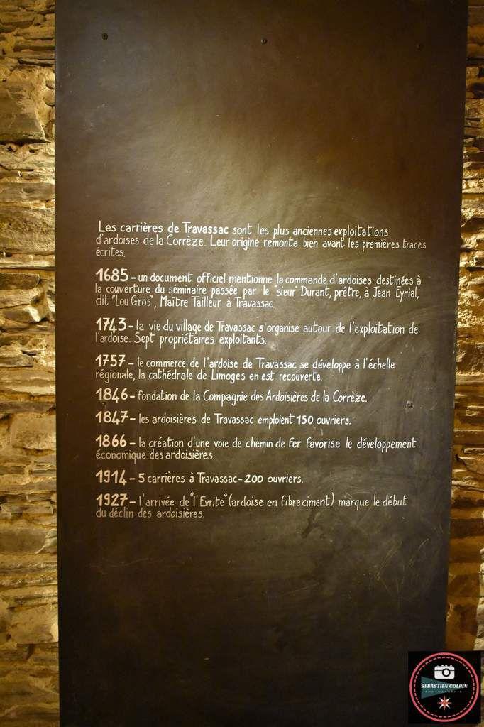 Les Pans de Travassac à Donzenac, carrière ardoisière en Corrèze