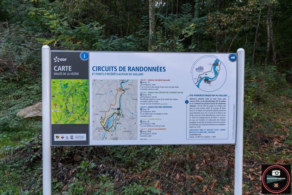 Usine hydroélectrique du Saillant et le saut du saumon en Corrèze