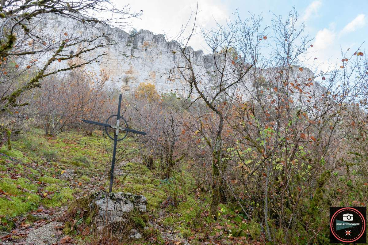 La chapelle troglodyte Notre Dame du Rocher Sainte-Marie dans le Lot