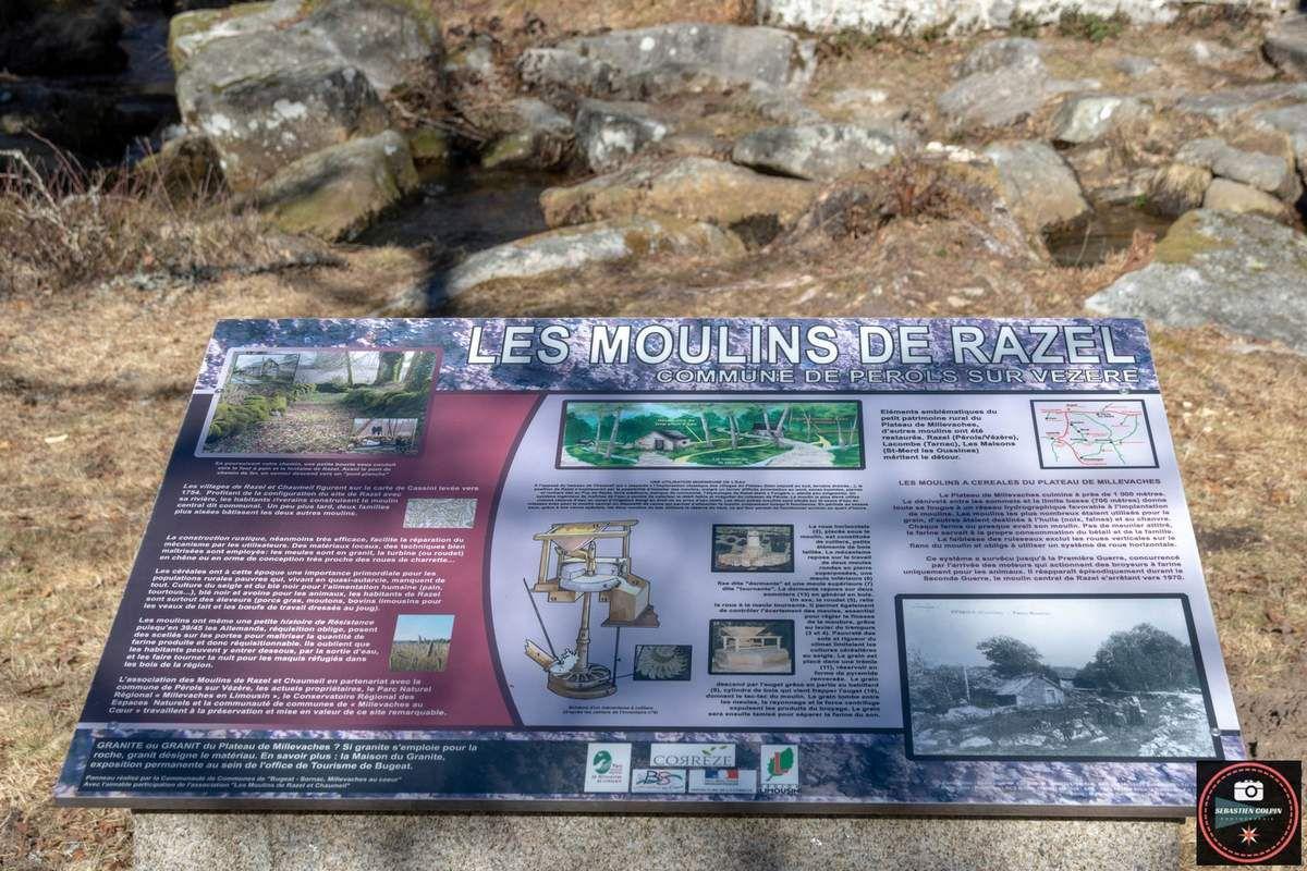 Les Moulins de Razel à Pérols sur Vézère en Corrèze