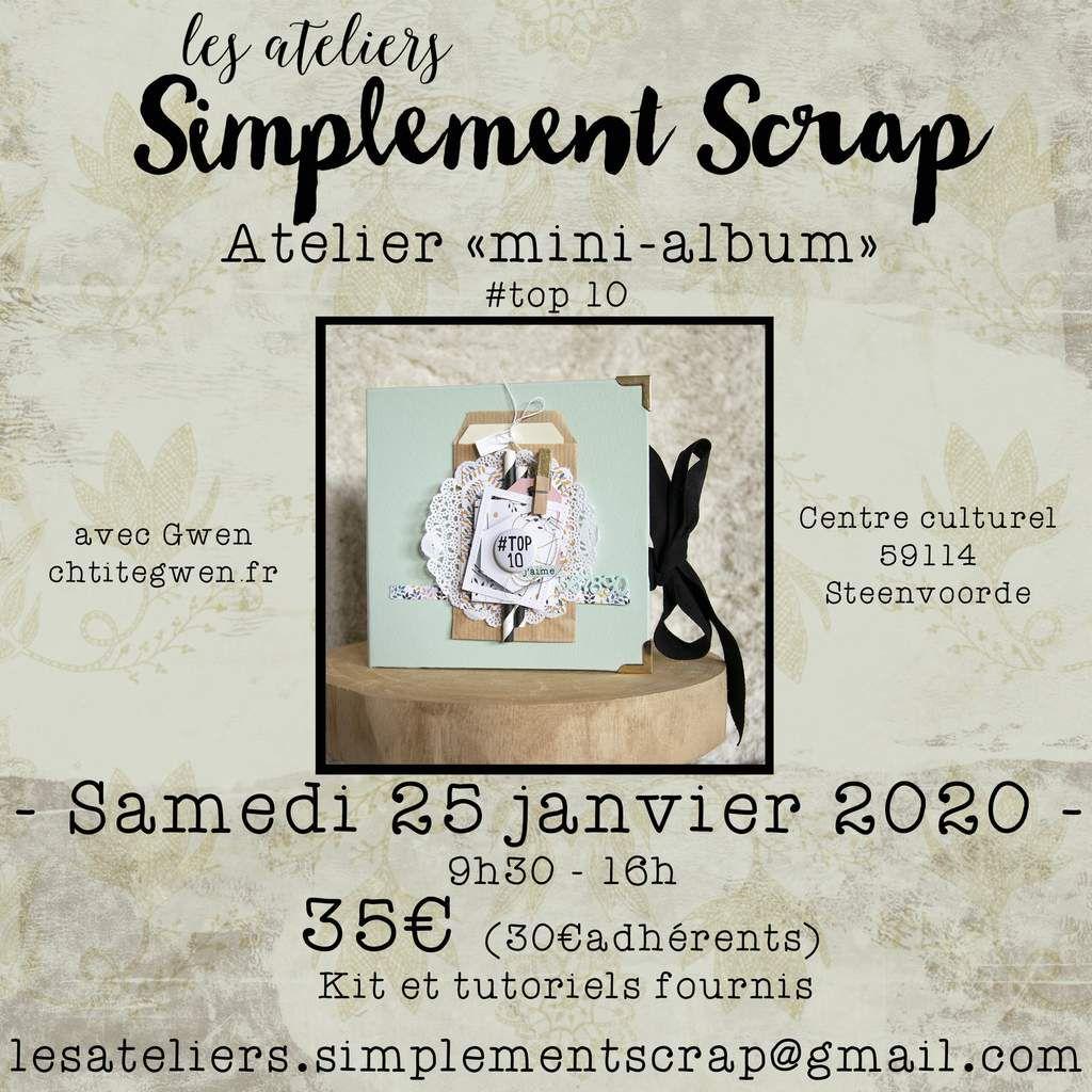 ATELIER Mini-Album - 25 janvier 2020 - Inscriptions