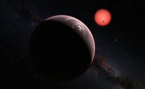 Une exoplonète en orbite autour d'une naine rouge