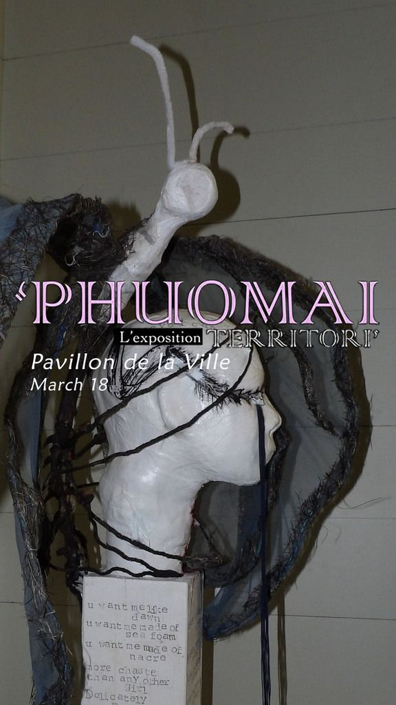 Chantaléa Commin - 'PHUOMAI, TERRITORI' - L'Xpo 20-31 mars 2018.  @Pavillon de la Ville de Pointe-à-Pitre