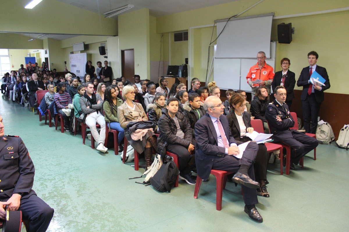 Cérémonie de lancement du dispositif des Cadets de la Sécurité Civile