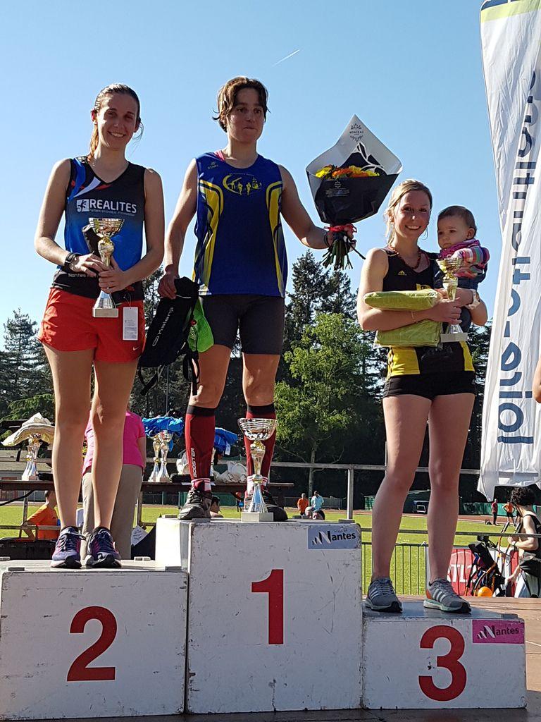 Amandine, en habituée des podiums ! (deuxième place de sa catégorie)