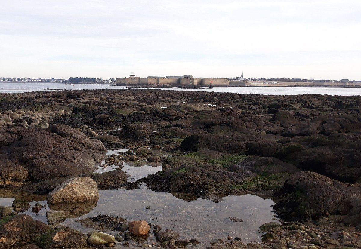 Situé à la sortie de la rade de Lorient et faisant face à la citadelle de Port-Louis, ce site est très prisé par les pêcheurs à pied de loisir malgré le panneau d'interdiction!!! A croire que la pollution donne du goût !!!