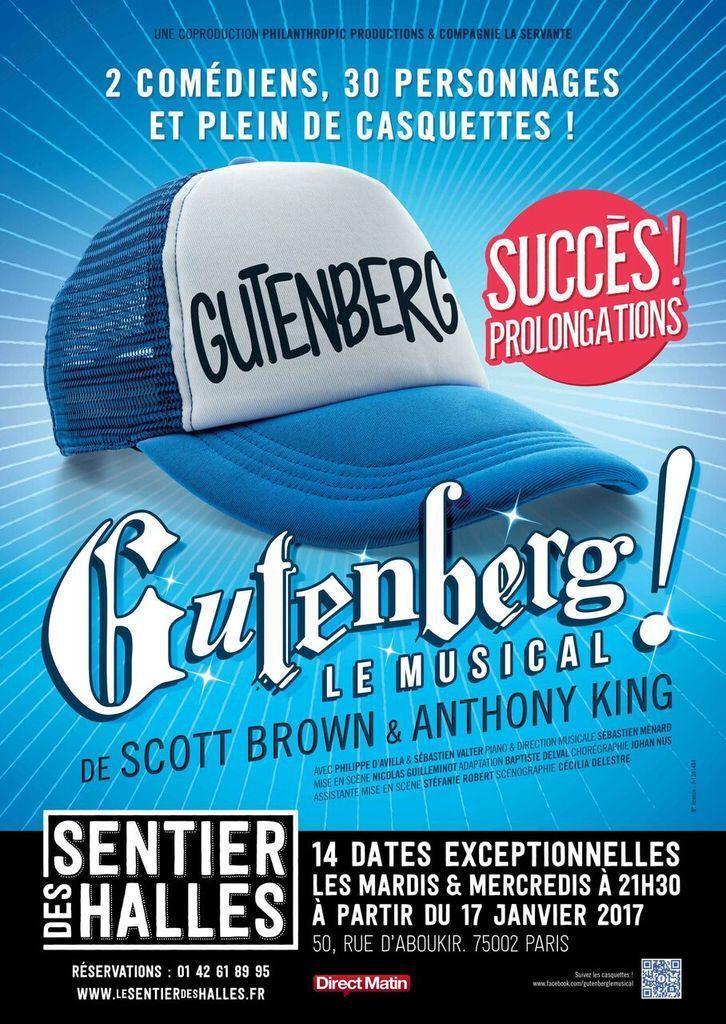 Gutenberg le musical au Sentier des Halles