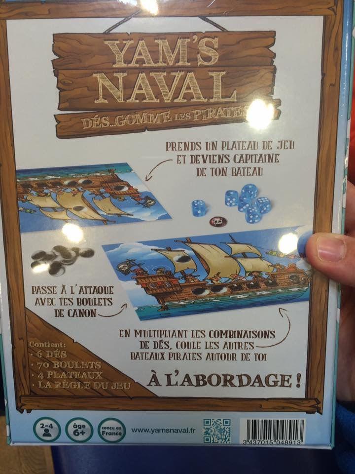 """Jeu de société """"Yam's naval dés ... Gomme les pirates"""""""