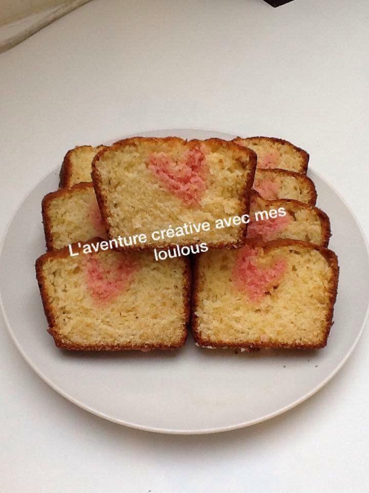 Cake aux cœurs cachés