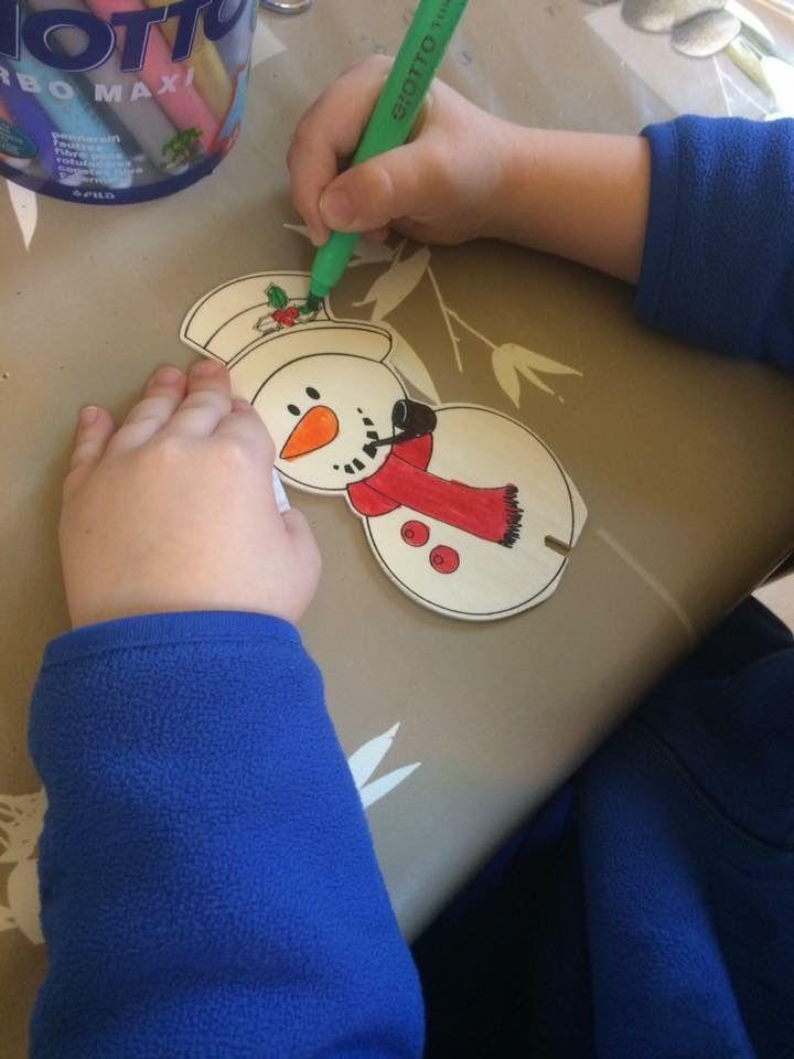 Kit de décorations de Noël en bois à colorier