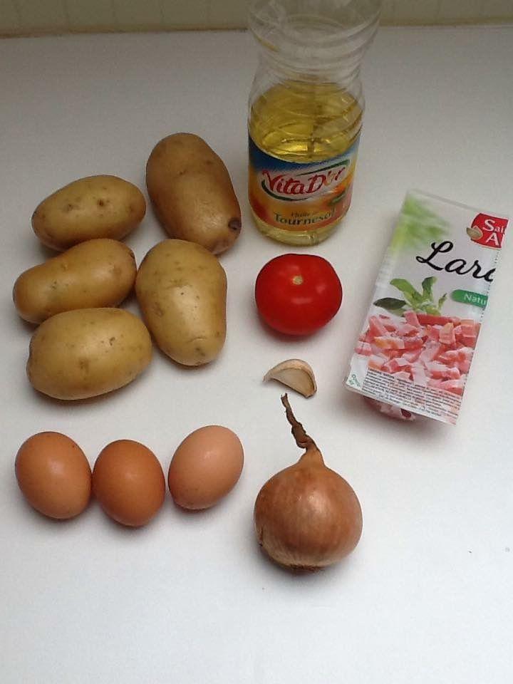 Poêlée d'oeuf et de pommes de terre