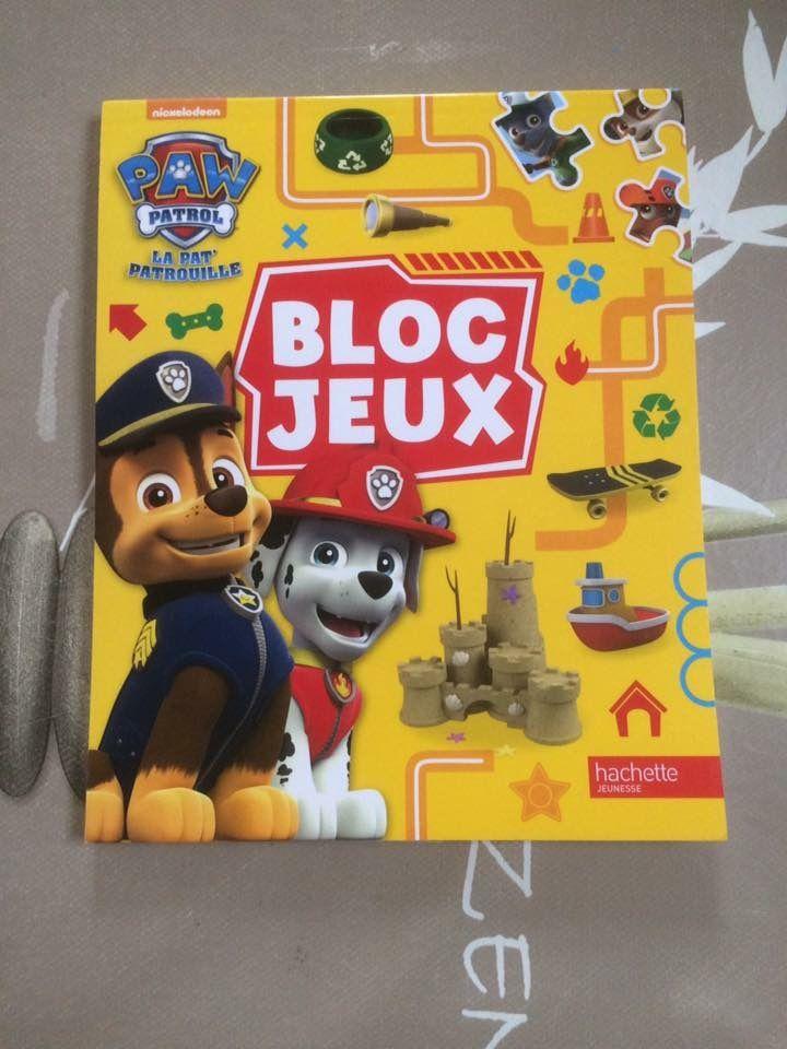 Bloc jeux Pat Patrouille Hachette Jeunesse