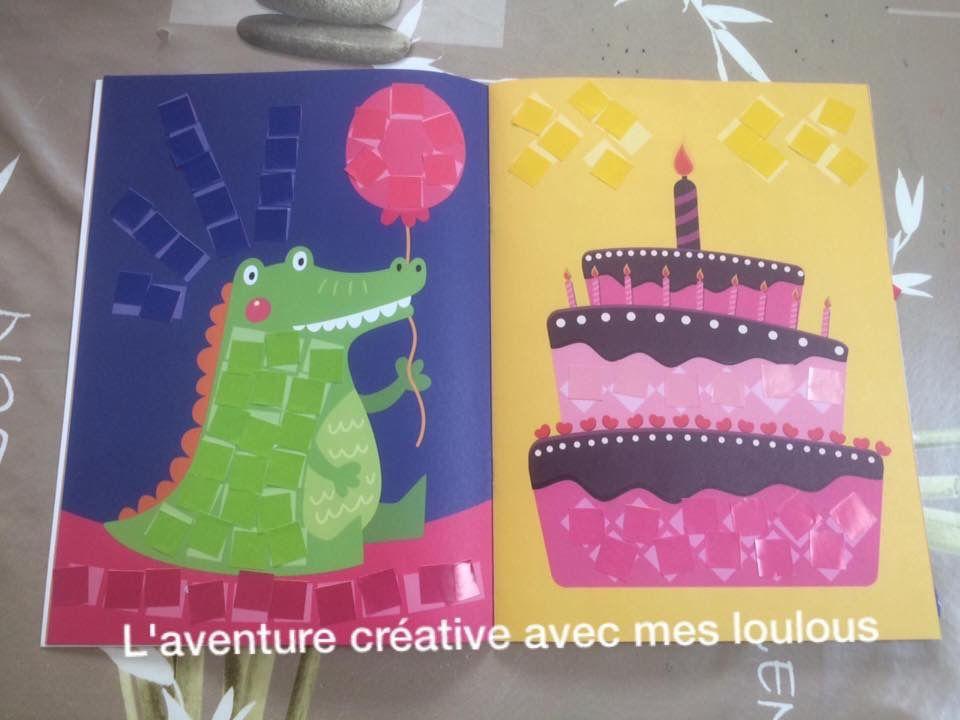 Mon livre mosaïque avec gommettes Editions Hemma