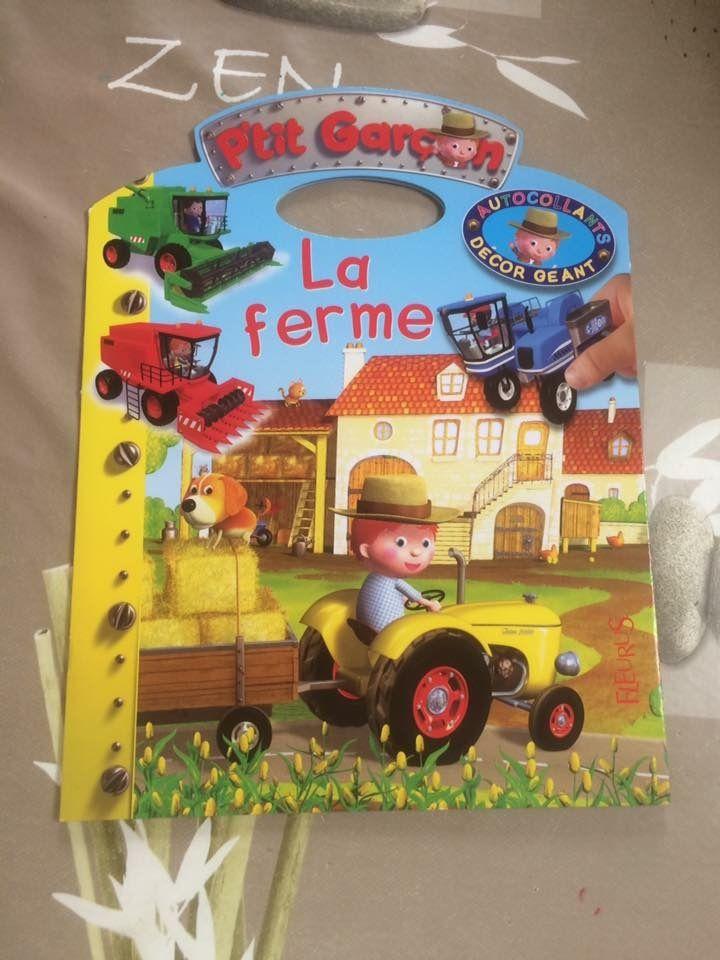 P'tit garçon décor géant La ferme Fleurus