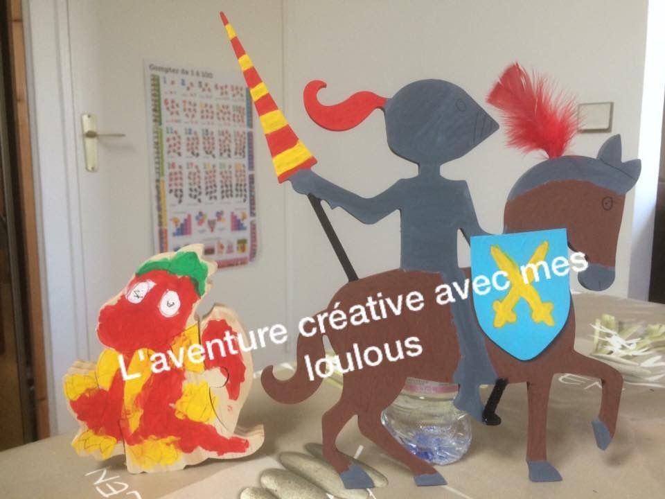Chevalier Gomille et Dragon puzzle 3D