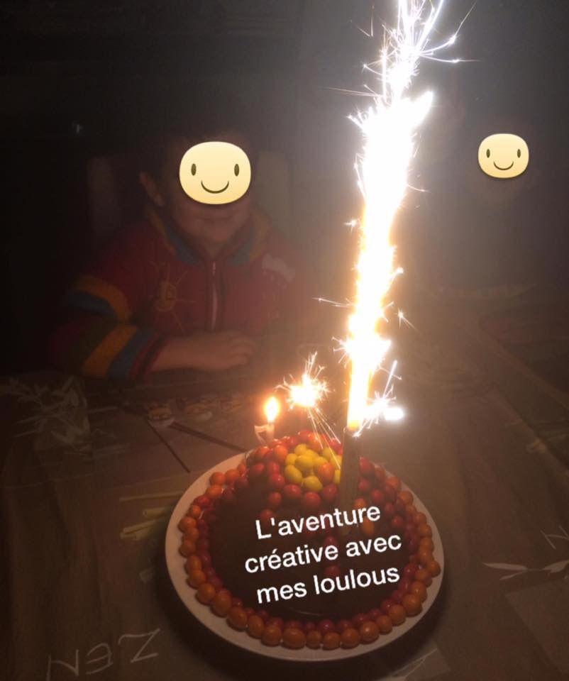 Gâteau d'anniversaire Volcan
