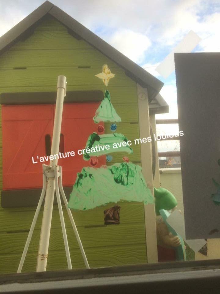 Décorations des fenêtres pour Noël