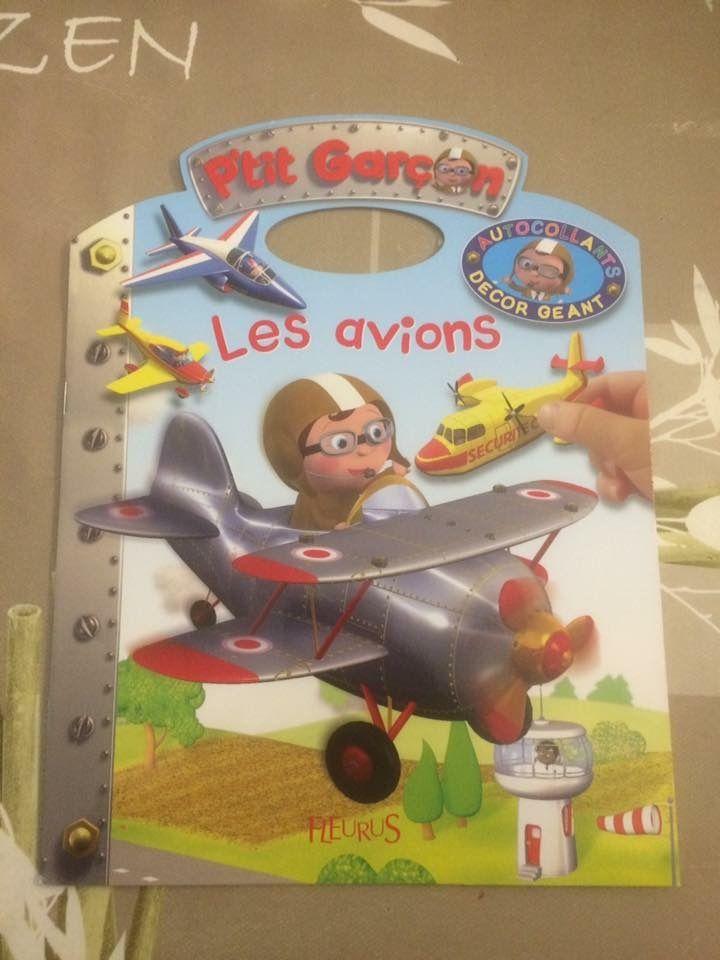 P'tit garçon Les avions Autocollants décor géant Fleurus