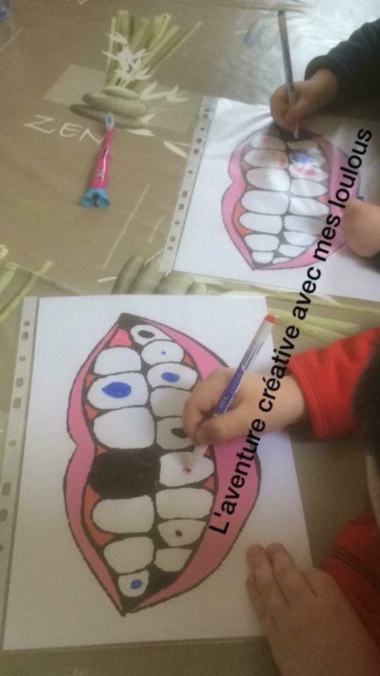 Brossage de dents pour chasser les caries