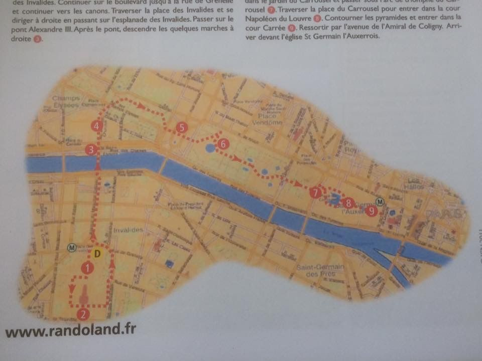 Circuit Les Invalides Randoland