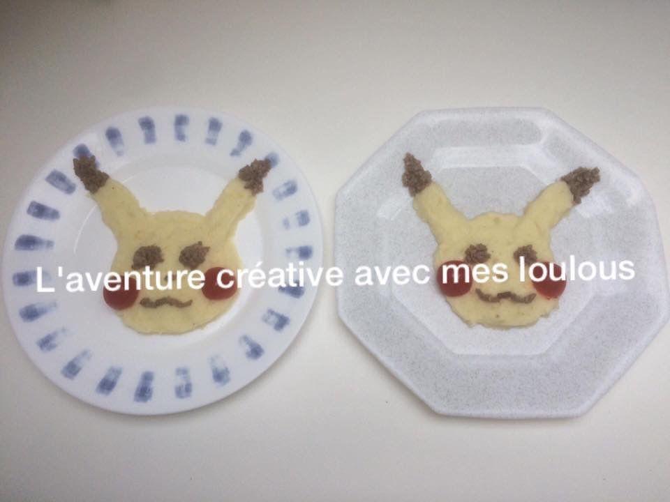 Pikachu dans l'assiette